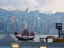 Panorama of Hong Kong stock image