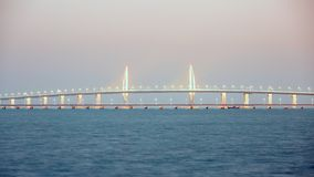 Hong Kong-Zhuhai-Macao Bridge. Panorama of Hong Kong-Zhuhai-Macao Bridge, the greatest bridge built over sea. China royalty free stock photography