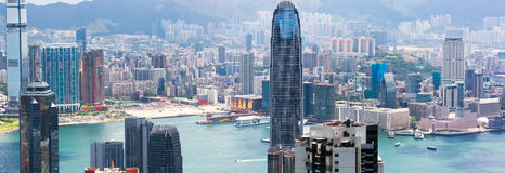 panorama hong kongu Obraz Stock