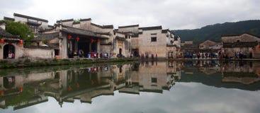Panorama of Hongcun Village, China Royalty Free Stock Photos