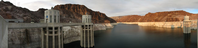 Panorama from Hoover Dam Stock Photo
