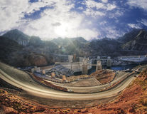 Panorama of Hoover dam Stock Image