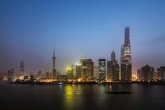 Panorama- horisont av Shanghai Arkivbilder