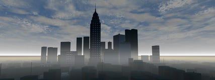 panorama- horisont för stad Royaltyfri Fotografi