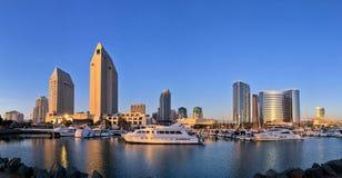 Panorama- horisont för i stadens centrum stad, San Diego, Kalifornien, USA Royaltyfri Bild
