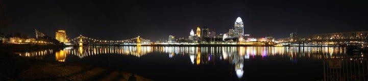 Panorama, horizon de Cincinnati, éditorial Photos libres de droits
