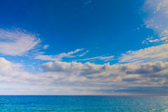 Panorama with horizon line over the sea. Stock Photography