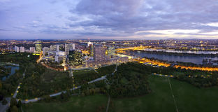 Panorama - Horizon van Donau Stad Wenen Royalty-vrije Stock Foto's
