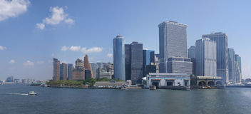Panorama, horizonte de Nueva York Imagenes de archivo
