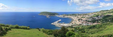Panorama Horta - île de Faial - les Açores Image stock