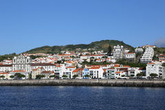 Panorama of Horta on Faial Azores Portugal Royalty Free Stock Images