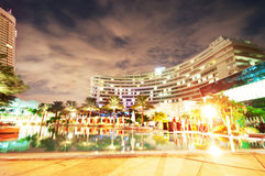Panorama of the hotel near sea Royalty Free Stock Images