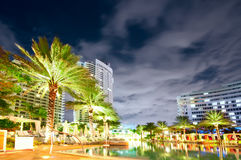 Panorama of the hotel near sea Royalty Free Stock Photo
