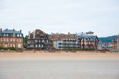 Panorama Houlgate along the English Channel  in Normandy, France. Stock Photo