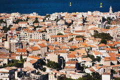 Panorama of houses in Marseille Royalty Free Stock Images