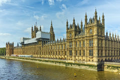 Panorama of Houses of Parliament, Palace of Westminster,  London, England Stock Photography