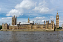 Panorama of Houses of Parliament, Palace of Westminster,  London, Great Britain Stock Image