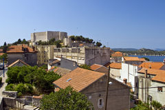 Panorama of houses and St.Michael fortress Royalty Free Stock Images