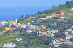 Panorama with houses in Tenerife, Canary islands Stock Photo