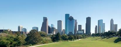 Panorama Houston concentrare, in città nel giorno Il Texas, unito immediatamente Immagini Stock Libere da Diritti