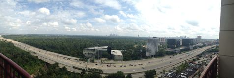 Panorama of Houston skyline Stock Photography