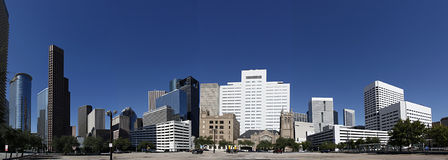 Panorama in Houston Van de binnenstad Royalty-vrije Stock Foto