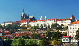 Panorama of Hradcany and Prague Castle Stock Photos