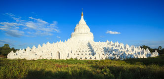 Panorama of Hsinbyume pagoda, Mingun, Mandalay, Myanmar Stock Photography