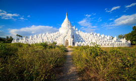 Panorama of Hsinbyume pagoda, Mingun, Mandalay, Myanmar Stock Photo