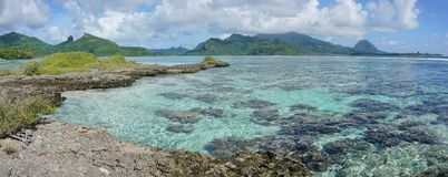 Panorama of Huahine island French polynesia Royalty Free Stock Photos