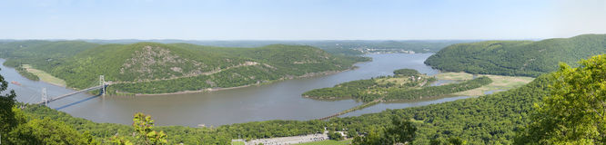 Panorama of Hudson River Royalty Free Stock Image