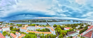 Panorama Hue City na tempestade da tarde Fotos de Stock Royalty Free