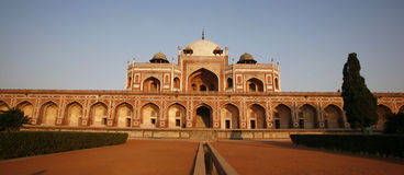 Panorama of Humayun Tomb, Delhi Royalty Free Stock Photo