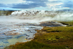 Panorama of Hveravellir. Iceland Stock Photos