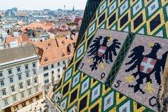 Panorama i dach Stephansdom w Wiedeń, Austria obrazy stock