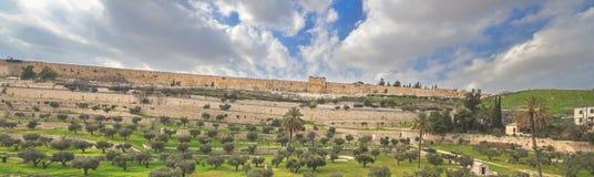 Panorama i Jerusalem Arkivfoto