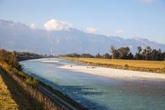 Panorama i Lichtenstein Arkivfoton
