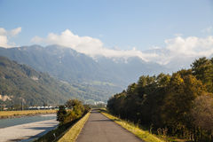 Panorama i Lichtenstein Royaltyfri Bild