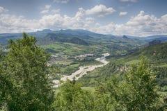 Panorama i Marecchia, Włochy Zdjęcia Royalty Free