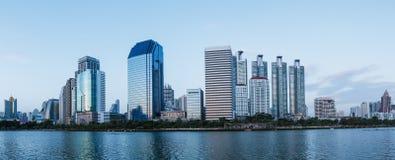 Panorama- i stadens centrum Bangkok Royaltyfria Bilder