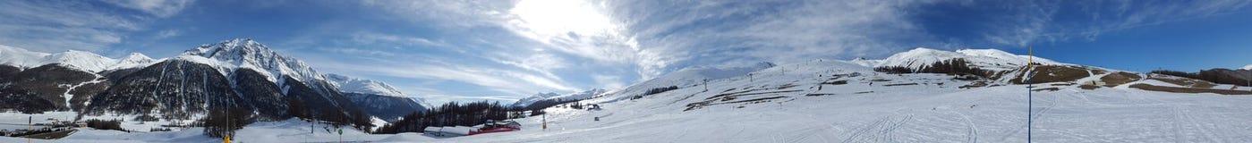 Panorama i Zuoz Arkivbilder