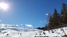 Panorama i Zuoz Royaltyfria Bilder