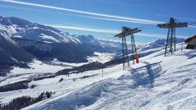 Panorama i Zuoz Royaltyfri Bild
