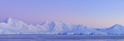 Panorama ice continent antarctica Royalty Free Stock Photography