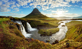Panorama - Iceland landscape Royalty Free Stock Photos
