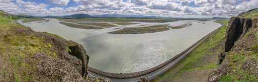 Panorama of Iceland river Royalty Free Stock Photo
