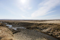 Panorama. Iceland's lands in the summer Royalty Free Stock Photos