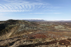 Panorama. Iceland's lands in the summer Stock Photography