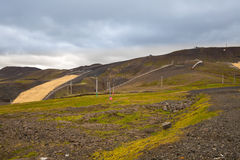 Panorama of Icelandic mountains Royalty Free Stock Images