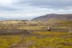 Panorama of Icelandic mountains Royalty Free Stock Photography